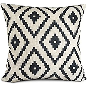 akery white and black series geometry cotton linen throw pillow cases cushion covers. Black Bedroom Furniture Sets. Home Design Ideas