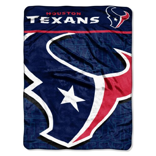Houston Blanket - The Northwest Company Officially Licensed NFL Houston Texans Livin Large Micro Raschel Throw Blanket, 46