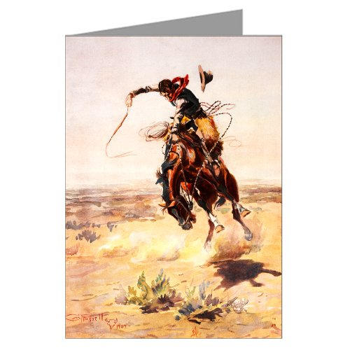 Single Vintage Cowboy Art Greeting Card of Charles M. Russell