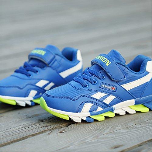 Laufschuhe für Kinder Casual Leder Sportschuhe atmungsaktiv Sneaker Blau
