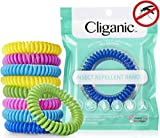 Cliganic Natural Mosquito Repellent Bracelet Waterproof | 10 Pack | Bug & Insect