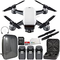 DJI Spark Portable Mini Drone Quadcopter Hardshell Backpack Ultimate Bundle (Alpine White)
