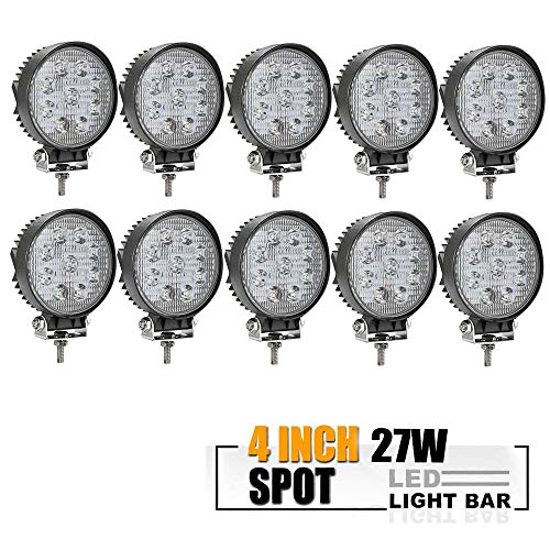 TURBOSII DOT Approvde 10PCS 4 Inch Led Work Light Bar 27w Dr