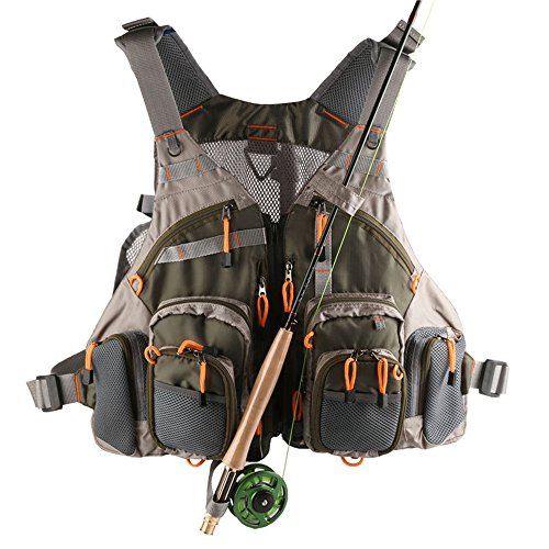 Lowpricenice Mesh Fly Fishing Vest Adjustable Size