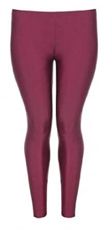 bf8d01566c5 XCLUSIVE NEW PLUS SIZE LADIES AMERICAN DISCO SHINY PANTS STRETCH LONG  LADIES LEGGINGS  Amazon.co.uk  Clothing