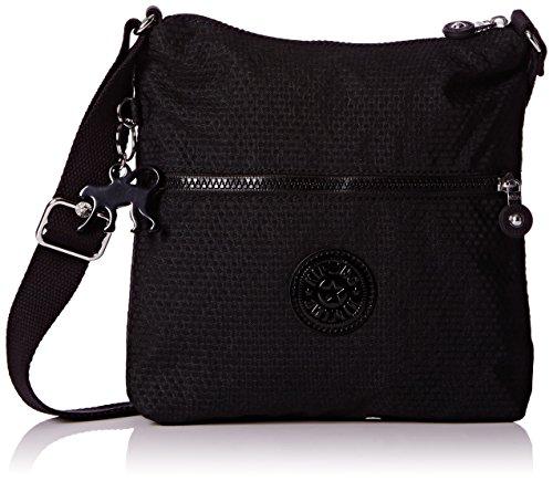 Kipling Damen Zamor Basic Plus Capsule Schultertaschen, Mehrfarbig (Dots Black D04), 25x24x4 cm