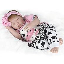 22''Handmade Lifelike Baby Girl Doll Silicone Vinyl Reborn Newborn Dolls+Clothes …