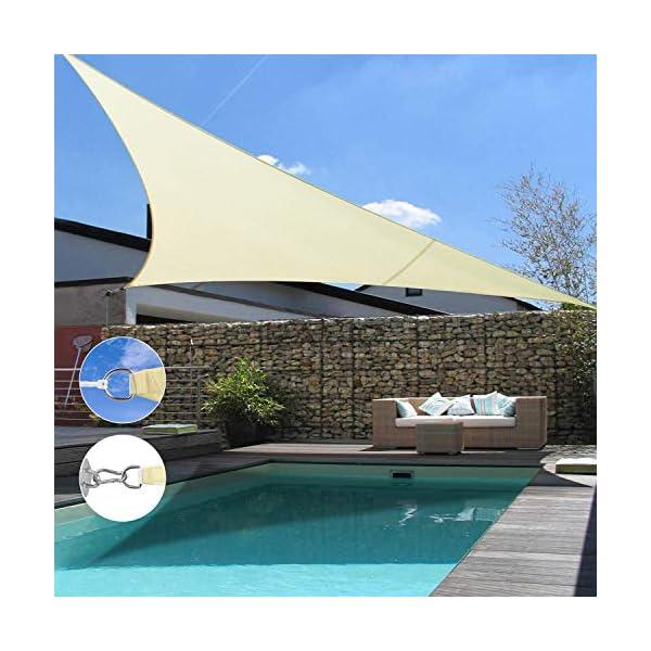 Wokkol Tende da Sole per Esterno, Tende da Sole, Tenda Parasole Esterno, Vela Ombreggiante, Protezione Raggi UV Vela… 2 spesavip