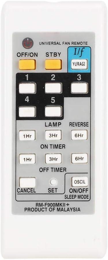 Yunir Control Remoto de Ventilador eléctrico Universal Blanco ABS Controlador de reemplazo Resistente al Desgaste Duradero para KDK ELMARK