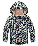 HuTuHu Kid Boys Fleece Windbreaker Color Block Overcoat...