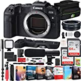 Canon EOS RP Mirrorless Camera 26.2MP Portable Full Frame Body Bundle with 2X 64GB Memory Card, Editing Suite, Extension Grip, Shotgun Microphone and Accessories (5 Items)