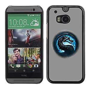 PC/Aluminum Funda Carcasa protectora para HTC One M8 MK Dragon / JUSTGO PHONE PROTECTOR