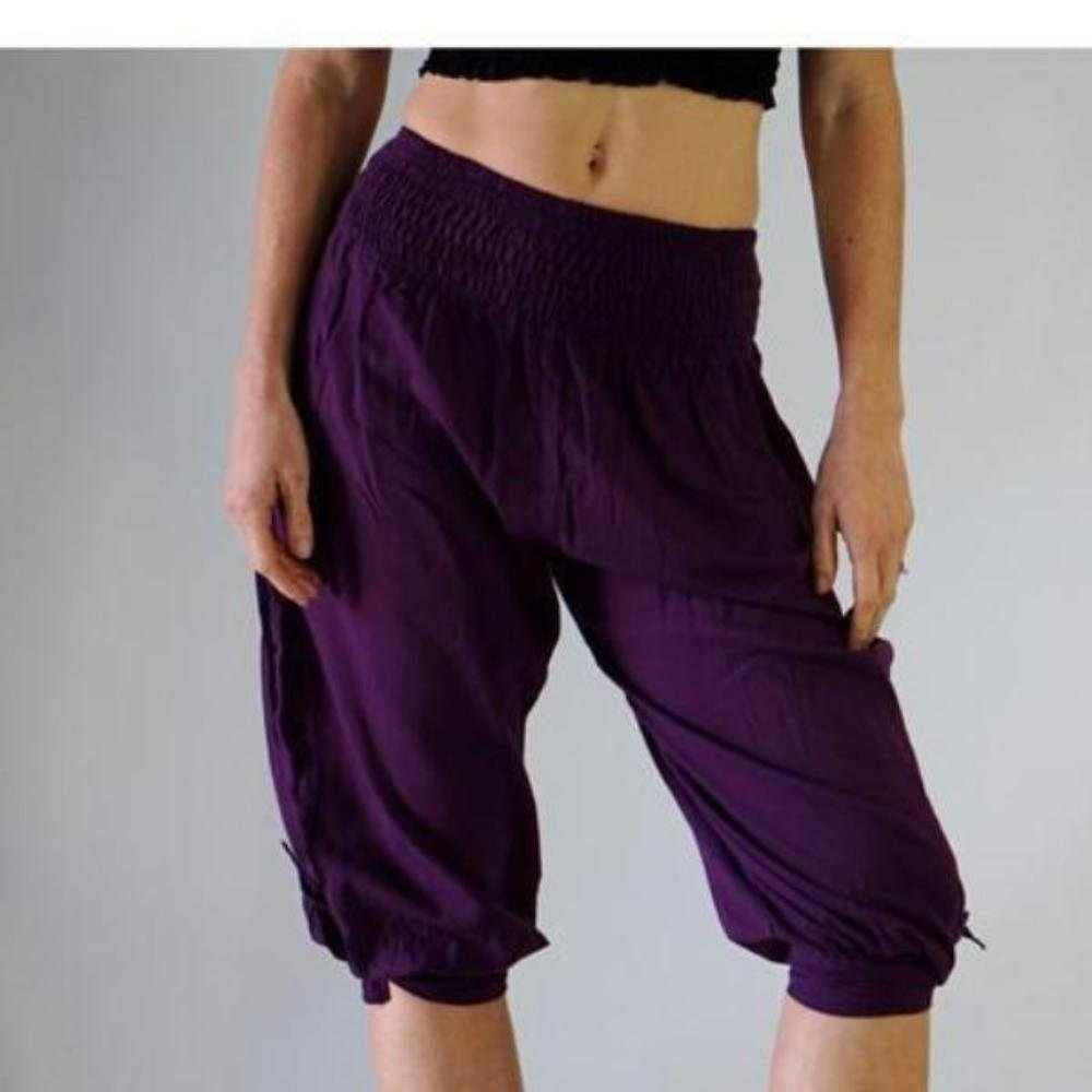 zootzu 'Castaway' Womens Pirate Pants - Purple