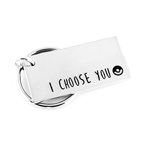 Amazon.com: I Choose You Keychain - Nerd Gift - Aluminum Key ...