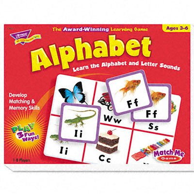 TREND Alphabet Match Me Puzzle Game, Ages 4-7 (Case of 6)
