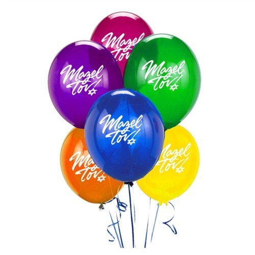 Mazel Tov Balloon Assortment - 6/pkg. by Jet - Mazel Tov Bar