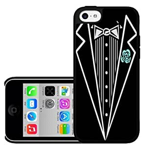 MEIMEI Black and White Tuxedo with Teal Rose Artistic Hard Snap on Phone Case (ipod touch 5)LINMM58281