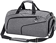 Kuston Sports Gym Bag with Shoes Compartment and Wet Pocket Gym Duffel Bag Overnight Bag