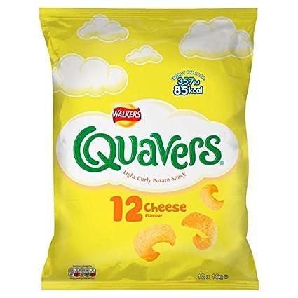 Quavers Walkers - Snacks de queso (12 x 0.56 oz): Amazon.com ...