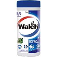 Walch Antibacterial Wet Wipes, 40 count