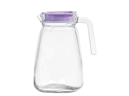 Pasabahce 449008 - Jarra de cristal con tapón de plástico ...