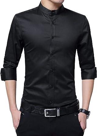 HaiDean Camisa De Los Hombre Collar del Soporte Modernas ...