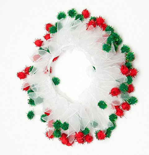 Midlee Christmas Pom Pom Decorative Dog Collar (X-Large)