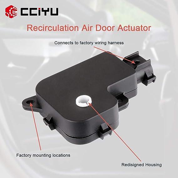 Right Side cciyu HVAC Air Door Actuator 604-161 Replacement 89023390 Heater Blend Door Actuator fit for Cadillac-Temperature