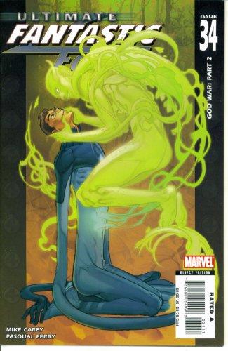 Download Ultimate Fantastic Four #34 : God War Part Two (Marvel Comics) pdf