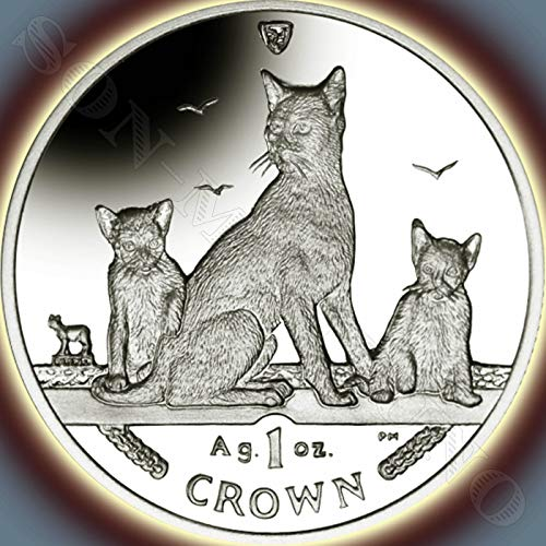(2016 HAVANA BROWN CAT COIN - 1 Oz .999 Silver Proof Crown Coin - Isle of Man - Brand New from the Mint in Box with Certificate of Authenticity)