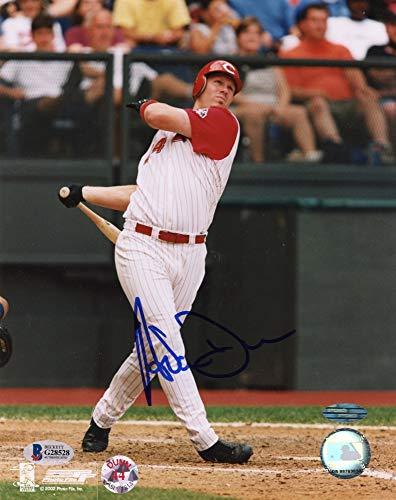 Adam Dunn Autographed Cincinnati Reds 8x10 Photo - BAS COA