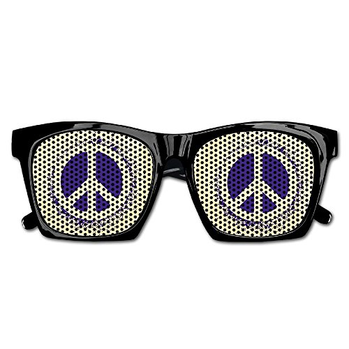 Xing Stars Colorful Summer Unisex Purple Peace Sign Fashion Party Costume - Sunglasses Wacky Uk