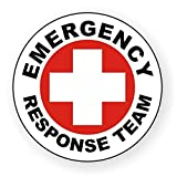 """1Pc Acceptable Unique Emergency Response Team Window Stickers Sign Mac Apple Macbook Laptop Luggage Wall Graphics Patches Rescue Crew Safety Hard Hat Label Stick Decor Vinyl Art Sticker Decal Size 2"""""""