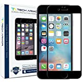 Tech Armor HYBRID Edge to Edge Glass (.2mm) Screen Protector for Apple iPhone 6 Plus/6s Plus [Blk] [1-pack]