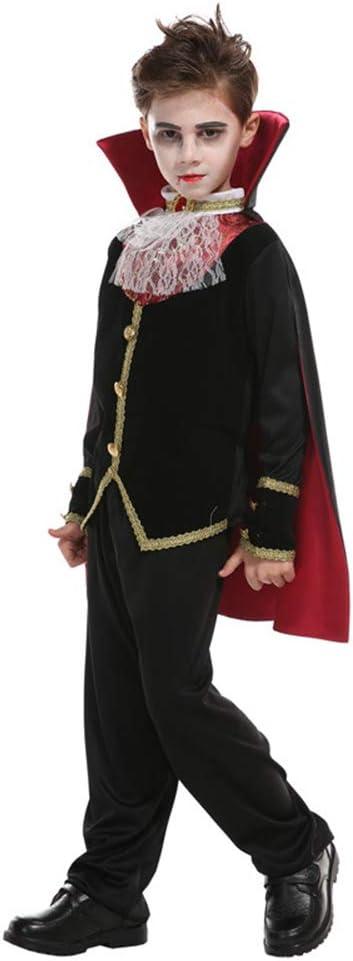 RENJIANFENG Niño Vampiro Earl Disfraz Halloween Fantasma Ropa ...