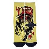 Hiphop monkey Socks Colorful Patterned Custom Crew Socks Men's Women's Socks Comfortable Socks Black