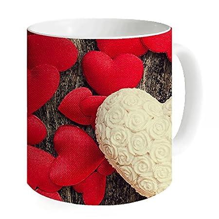 90c9c3336eb Okoukiu Sweet Hart Romantic Roses Mug Coffee Mug Milk Mug Tea Cup 11 OZ  --Personalized Gift For Birthday,Christmas And New Year: Amazon.co.uk:  Kitchen & ...