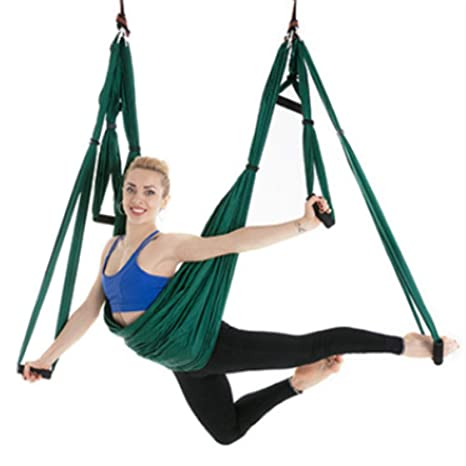 Leaysoo Yoga Hammock-Reverse Aerial 6 Handles No Stretch ...