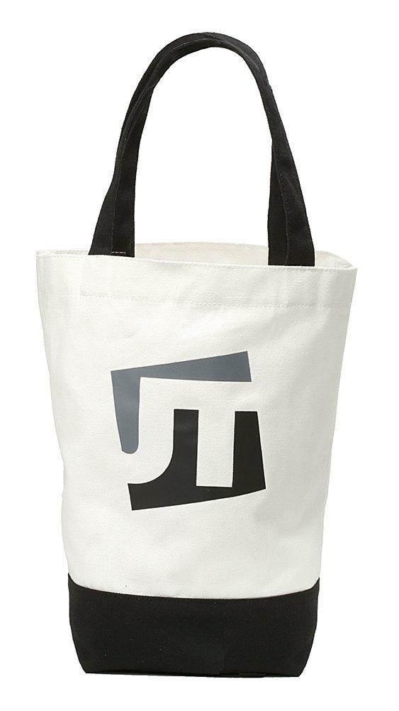 JTSquare reusable12 OzコットンキャンバスGroceryショッピングバッグトートバッグ B00WVQHJT6