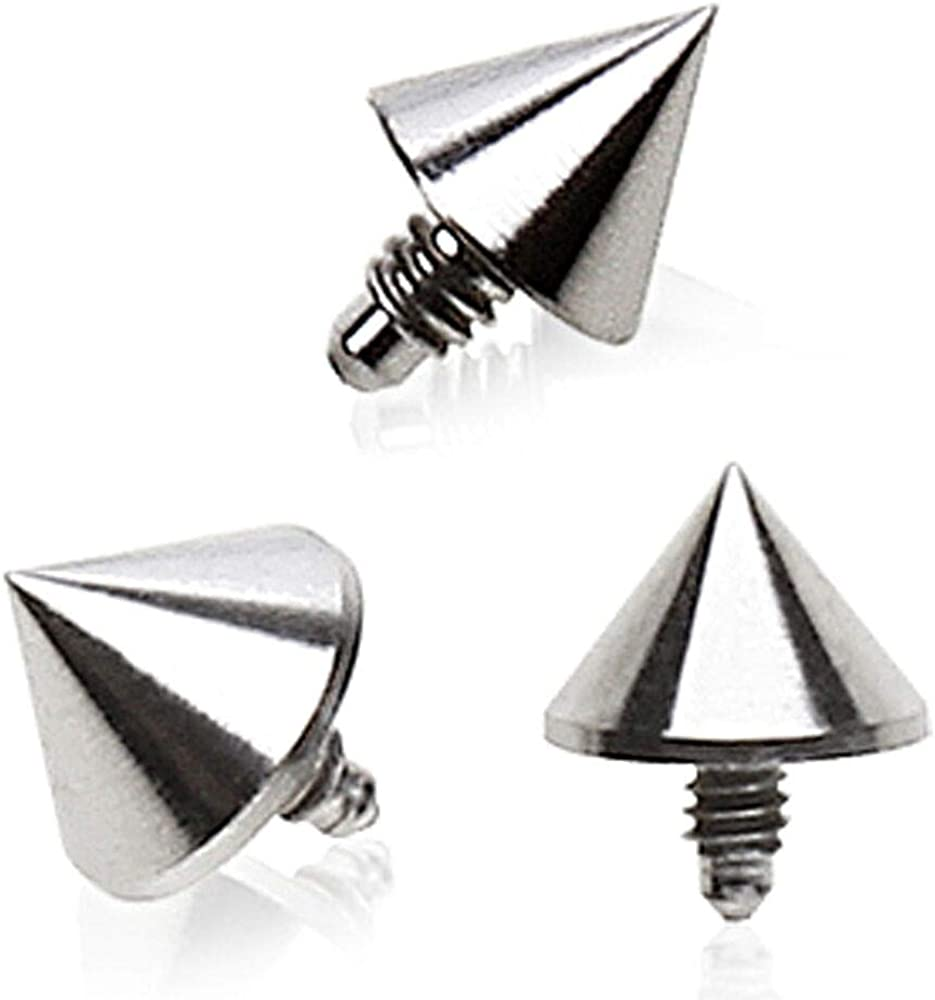 Sold by Piece Freedom Fashion Grade 23 Titanium Internally Threaded Spike Dermal Top