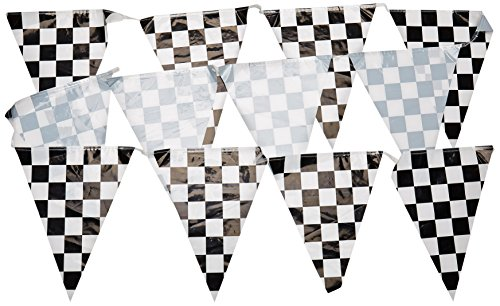 (Checkered Pennant Banner Party Accessory (1 count) (1/Pkg) )
