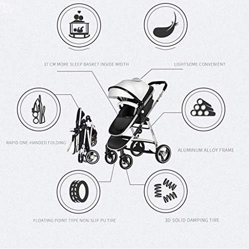 MRWW Faltbare Anti-Schock High View-Wagen Infant Kinderwagen, bewegliche leichtes Kinderwagen, mit Liegen, Shock-Resistant Buggy bis 15 kg