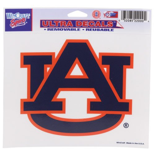 WinCraft NCAA Auburn University Multi-Use Colored Decal, 5'' x 6''