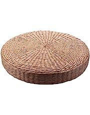 Creely 40 cm poduszka tatami okrągła pleciona słomka ręcznie wykonana poduszka podłoga mata krzesło do jogi