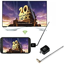 Cewaal DVB-T Digital Mobile TV Receiver, Micro USB DVB-T TV Tuner Receiver For Android Smartphone Tablet PC HDTV