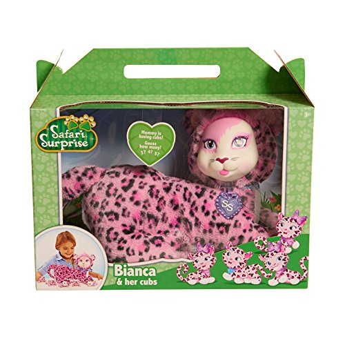 Just Play Safari Surprise Bianca Leopard Plush