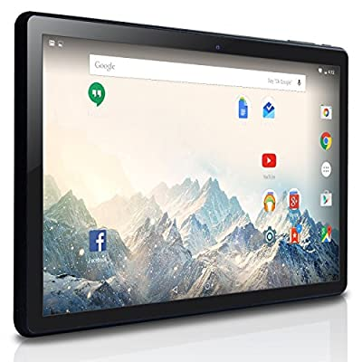 NeuTab® 10.1 inch Quad Core Android 5.1 Lollipop OS Tablet PC 16GB Nand Flash Bluetooth Mini HDMI GPS Supported, 1 Year US Warranty, FCC Certified Black