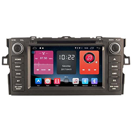 Autosion In Dash Android 6.0 Car DVD Player Sat Nav Radio Head Unit GPS Navigation Stereo for Toyota Auris 2007 2008 2009 2010 2011 Support Bluetooth SD USB Radio OBD WIFI DVR 1080P by Autosion
