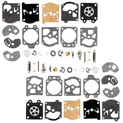 (QAZAKY 2pc Carburetor Diaphragm Gasket Rebuild Repair Kit for Walbro K10-WAT WA WT Series Carb 2-cycle String Trimmers Blowers Chainsaw Poulan Weedeater Ryobi Homelite Lawnboy Toro Stihl)