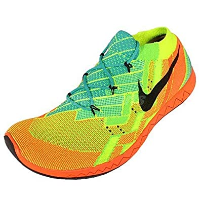 brand new 98086 b2802 Womens Nike Free 3.0 Flyknit Orange Yellow Blue Trainers 718418 300 UK 6.5  EUR 40.5 US 7.5  Amazon.co.uk  Shoes   Bags